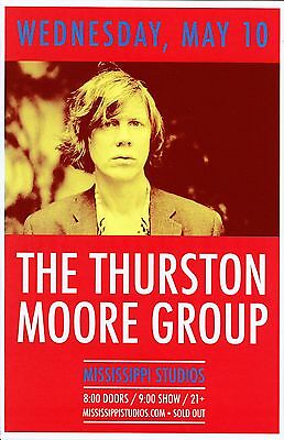 THURSTON MOORE 2017 Gig POSTER Sonic Youth Portland Oregon Concert