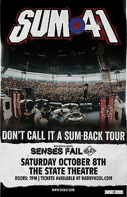 Sum 41 * ORIGINAL CONCERT POSTER * Senses Fail * St. Petersburg, FL * Oct. 8th