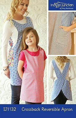 Crossback Reversible Adult & Child Apron Sewing Pattern - Indygo Junction IJ1132