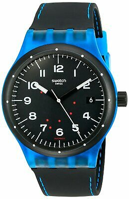 Swatch Unisex SUTS402 Originals Analog Display Swiss Automatic Black Watch