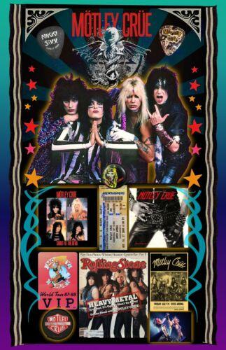 """Motley Crue Tribute poster - 11x17"""" - Vivid Colors!"""
