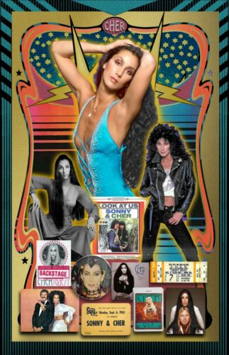 "CHER Tribute Poster - 11x17"" -- Vivid Colors"