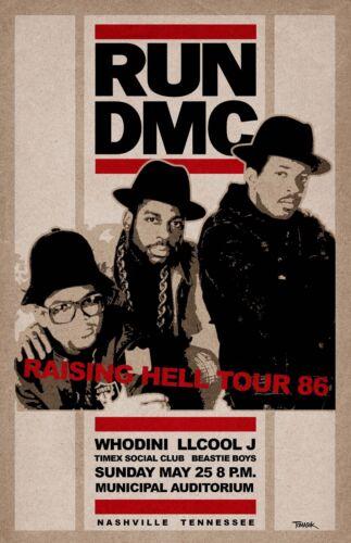Run DMC 1986 Concert Poster