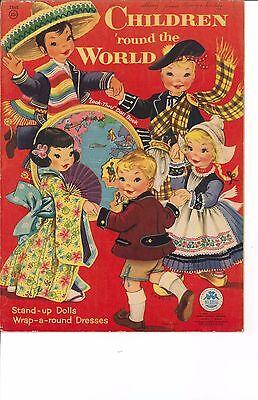 VNTGE UNCUT 1953 CHILDREN ROUND WORLD PAPER DOLL~MERRILL~ORG SZ~LASR REPRODUCTIN