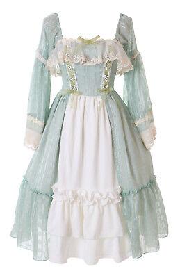 JL-678 Edel Grün Rüschen Kleid Barock Vintage Gothic Lolita Kleid Kostüm (Chiffon Vintage Kostüm)