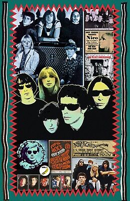 "Velvet Underground -11x17"" poster- signed by artist-vivid-colors very detailed"