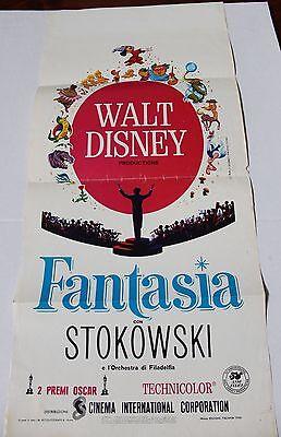 1946 FANTASIA Italian Locandina Movie Poster and 50th Anniversary Program