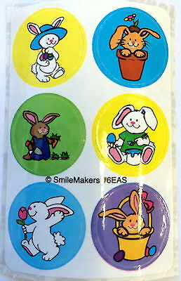 60 Mini Dot Spring Easter Bunny RabbitParty  Favors Stickers Teacher Supply