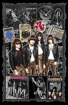 """The Ramones -11x17"""" collage poster -1/3 Price Off Special Summer Sale till 5/29"""