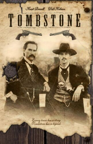 Tombstone movie poster print (style A) : 11 x 17 inches Val Kilmer, Kurt Russell