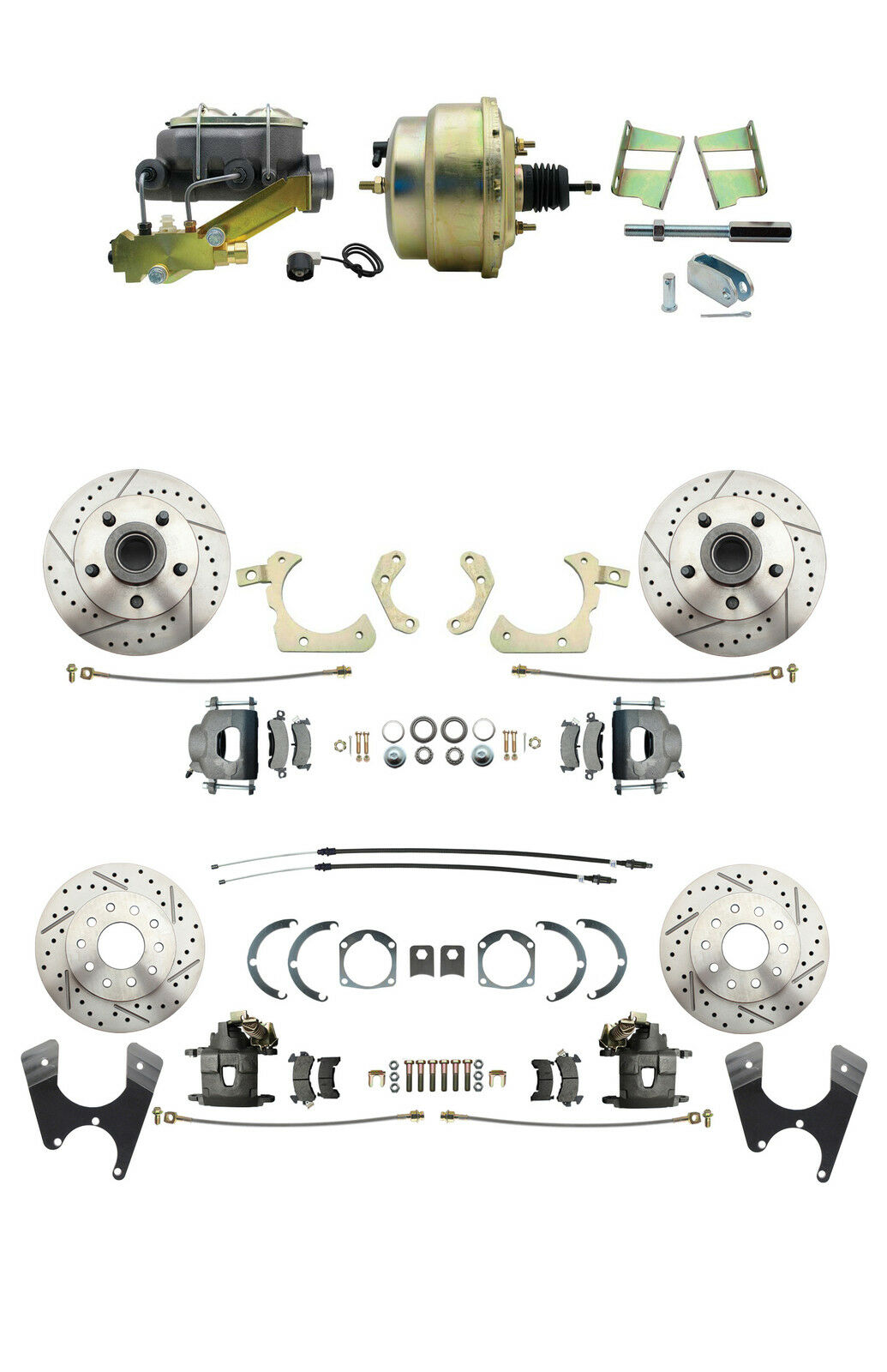 gm 1959 64 front rear high performance power disc brake conversion kit ebay. Black Bedroom Furniture Sets. Home Design Ideas