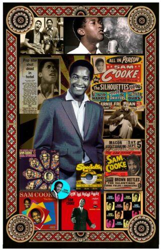 "Sam Cooke Tribute Poster - 11x17"" Vivid Colors"