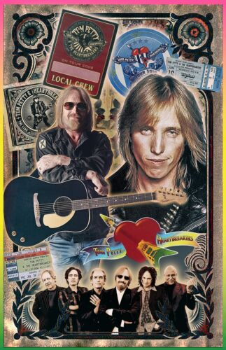 "Tom Petty Poster Tribute poster - 11x17"" - Vivid Colors!"