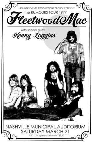 Fleetwood Mac 1977Concert Poster