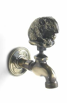 Antique Finish Mouse Design Animal Outdoor Garden Tap