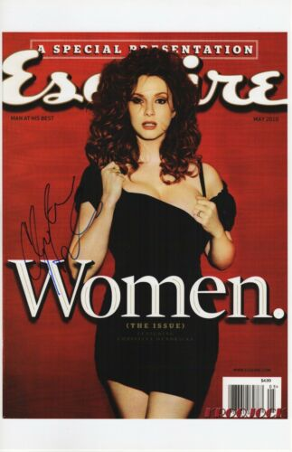 CHRISTINA HENDRICKS SIGNED PHOTO 11X17 ESQUIRE MAD MEN AUTOGRAPH SEXY!