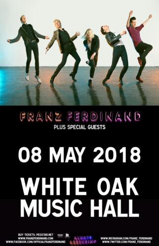 FRANZ FERDINAND 2018 HOUSTON CONCERT TOUR POSTER - Indie / Art Rock Music