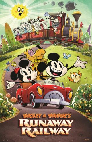 Runaway Railway Happy Train Lobby Attraction Poster Print 11x17 Disney