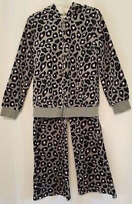 Leopard Heart Pants - Circo girls leopard & heart print soft velour jacket & pants set- size 6/6X -EUC