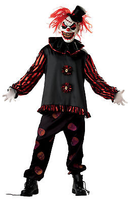Carver The Clown Costume (Carver The Killer Clown Costume Long Sleeve Shirt Halloween Seasonal)
