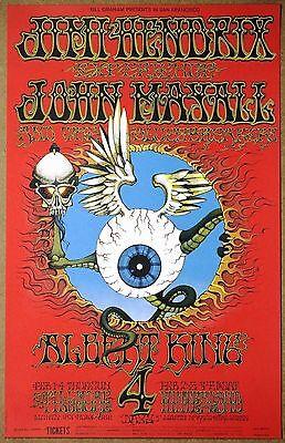 Jimi Hendrix  Flying Eyeball Rick Griffin 1968 Limited Run Mint Condition