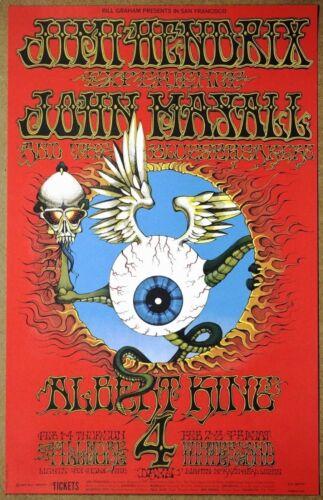 Jimi Hendrix  Flying Eyeball  Rick Griffin 1968  Original Authorized Ltd Ed 6th