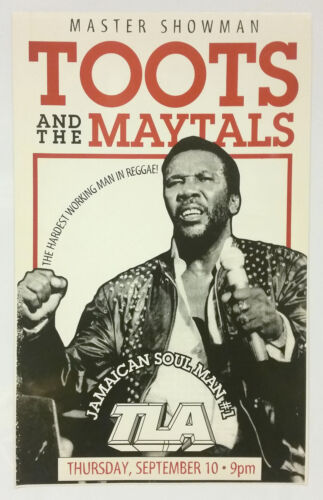 TOOTS and The MAYTALS Original 1998 Concert Poster