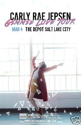 Carly Rae Jepsen  Gimmie Love Tour  2016 Salt Lake Concert Poster   Pop Music