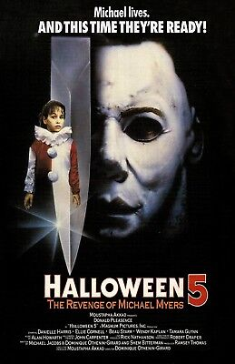 Halloween 5 movie poster print  : 11 x 17 inches :  The Revenge Of Michael - Halloween 5 Poster