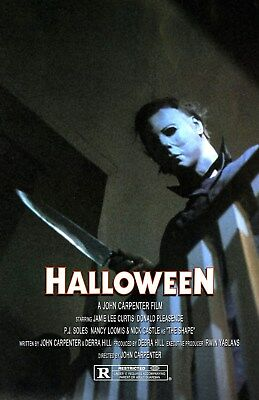 Halloween UNSIGNED 11x17 PHOTO #6 Michael Myers John Carpenter Jamie Lee Curtis ()