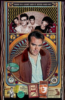 """Morrissey (The Smiths) 11x17"""" poster(signed by artist)vivid-colors very detailed"""