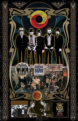 "The Band -11x17"" poster-signed-by-artist vivid-colors . very-detailed"