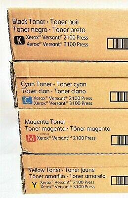 Xerox Versant 21003100 Digital Press Set Of 4 Toners Pn 006r01626 27 28 29