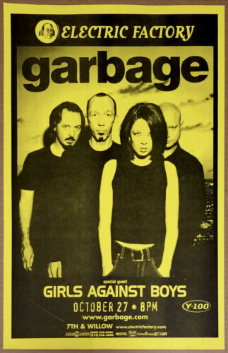 GARBAGE (Shirley Manson) Original 1998 Concert Poster - early poster!