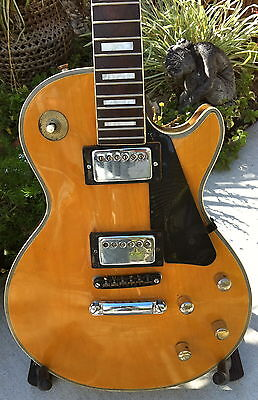 Vintage 60's/70's Univox/kent/lyle Lp Style Natural Wood Guitar