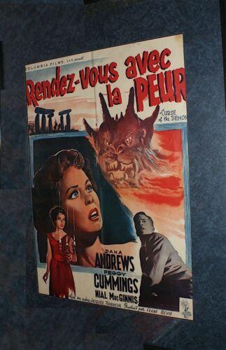 CURSE OF THE DEMON  /  NIGHT OF THE DEMON   /  1957  /  ORIGINAL BELGIUM POSTER