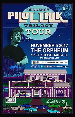 CURREN Y PILOT TALK TRILOGY TOUR 2017 TAMPA, FL CONCERT POSTER - Hip Hop Music - $11.99