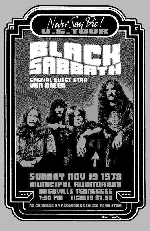 Black Sabbath 1975 Tour Poster