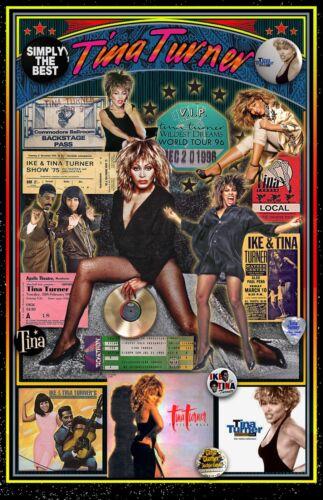 """TINA TURNER FAN Tribute Poster -  Tribute Poster - 11x17"""" Vivid Colors"""