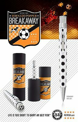 ROLLERBALL PEN BLACK WHITE SOCCER BALL DESIGN RETRO 51 BREAKAWAY TORNADO XRR16P1 ()