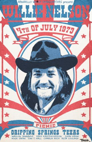 Willie Nelson Concert Poster