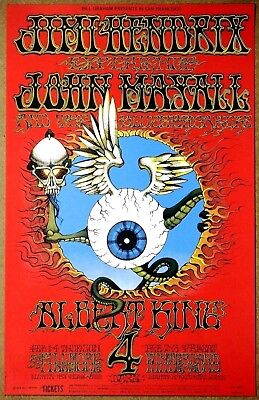 Jimi Hendrix  Flying Eyeball Rick Griffin 1968 Limited Edition 4 Mint Condition