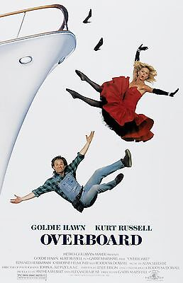 Overboard Movie Poster   Goldie Hawn  Kurt Russell   11 X 17 Inches