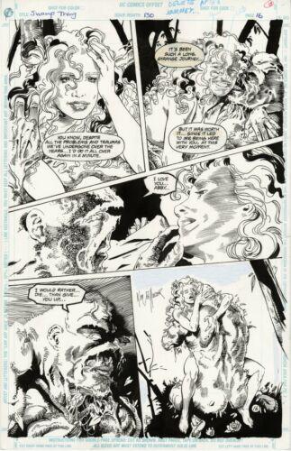 DC SWAMP THING #130 PAGE 16 Original Art SCOTT EATON & KIM DeMULDER 1993 w/ABBY