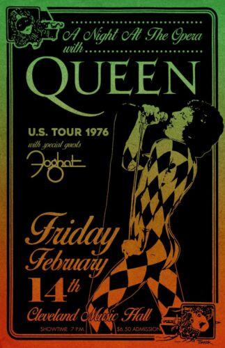 Queen 1976 Concert Poster