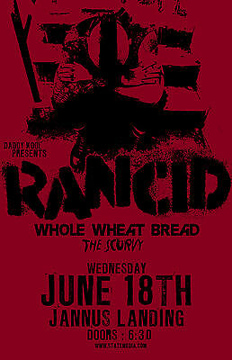 Rancid And Out Come The Wolves * Original Concert Poster rare limited 2008 tour