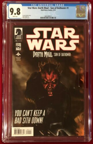 Star Wars Darth Maul Son of Dathomir #1 CGC 9.8 NMMT May 2014