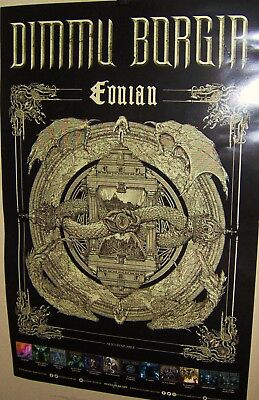 DIMMU BORGIR Original Promo Poster EONIAN Very COOL