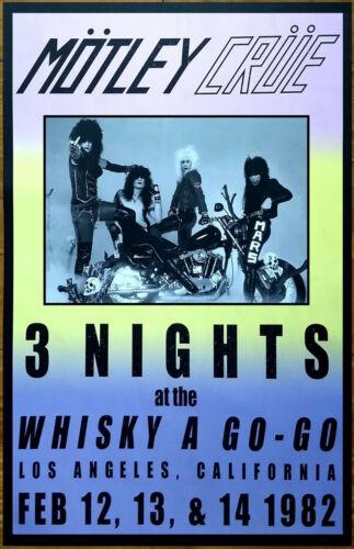 MOTLEY CRUE Whiskey A Go-Go LA 1982 Ltd Ed Vintage RARE Tour Poster for The Dirt