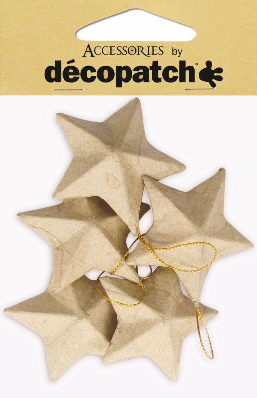 Decopatch Holiday Pack Of Stars 5/Pkg-